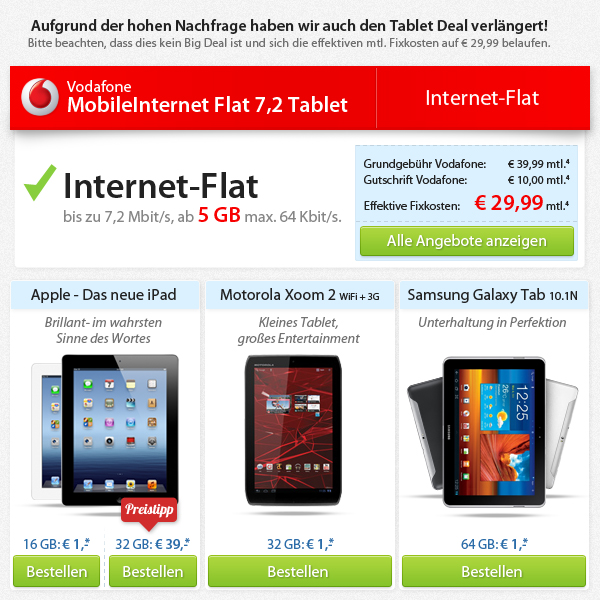 ipad 3 4g mit 5gb vodafone datentarif zum spitzenpreis. Black Bedroom Furniture Sets. Home Design Ideas