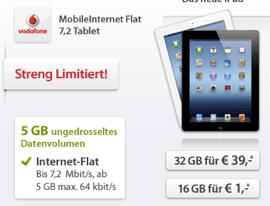 Sparhandyipad3 in iPad 3 4G mit 5GB Tarif von Vodafone zum Spitzenpreis