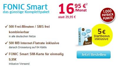Fonic in Preissenkung - Fonic Smart Tarif für nur noch 16,95€ monatlich